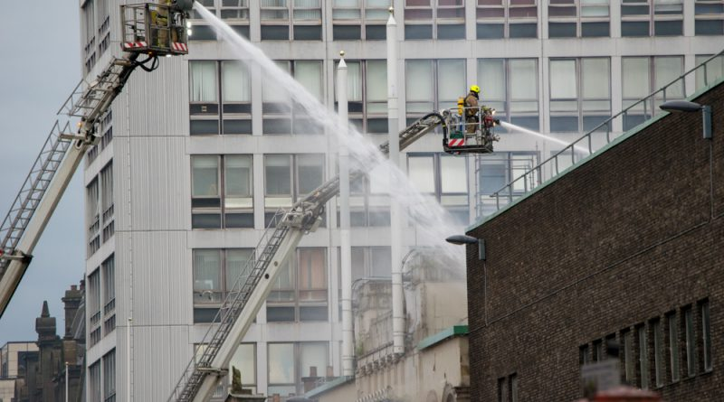 Mackintosh building destroyed in the fire and ABC music venue severely damaged